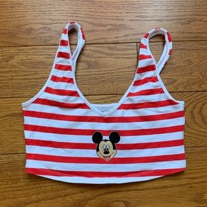 Mickey Mouse Stripped Cropped Top